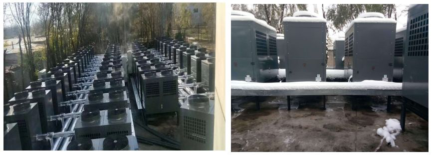 新疆酒店空氣能熱泵采暖機組