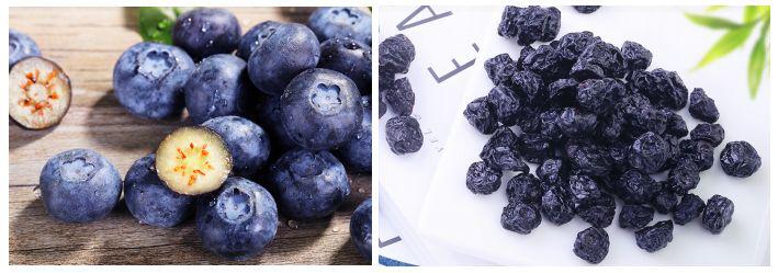 热泵烘干蓝莓效果