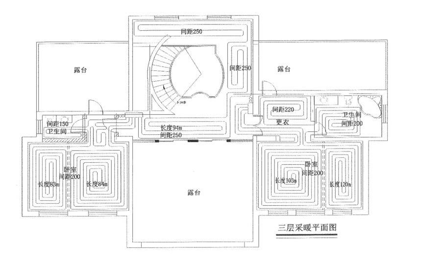 宁夏银川自建别墅空气能采暖方案(含图纸)