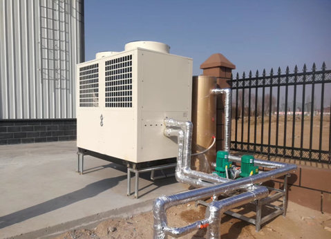 2020年宁夏养殖厂空气能400平米采暧项目