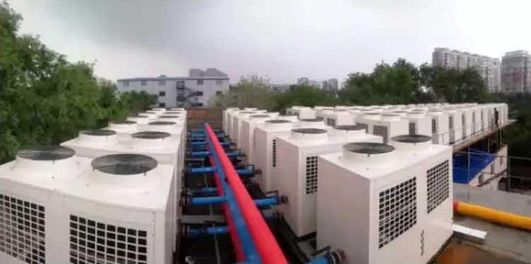 """""""十四五""""清洁取暖需补贴300亿正旭空气能热泵采暖机项目案例实拍"""