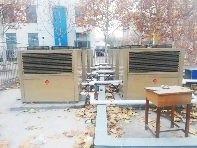 正旭空气能热泵泳池恒温机组空气能热泵恒温机组泳池热泵项目案例实拍